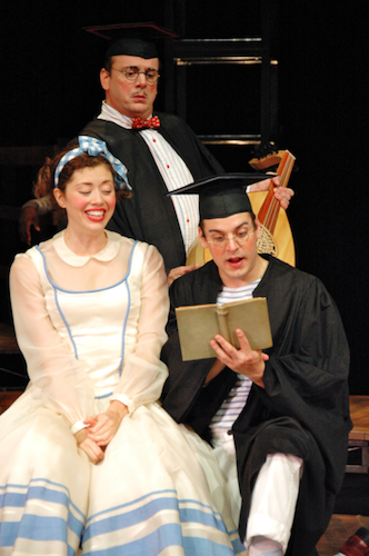 "Chris Mixon, Chris Hirsh and Nicole Rodenburg in ""The Taming of the Shrew"""