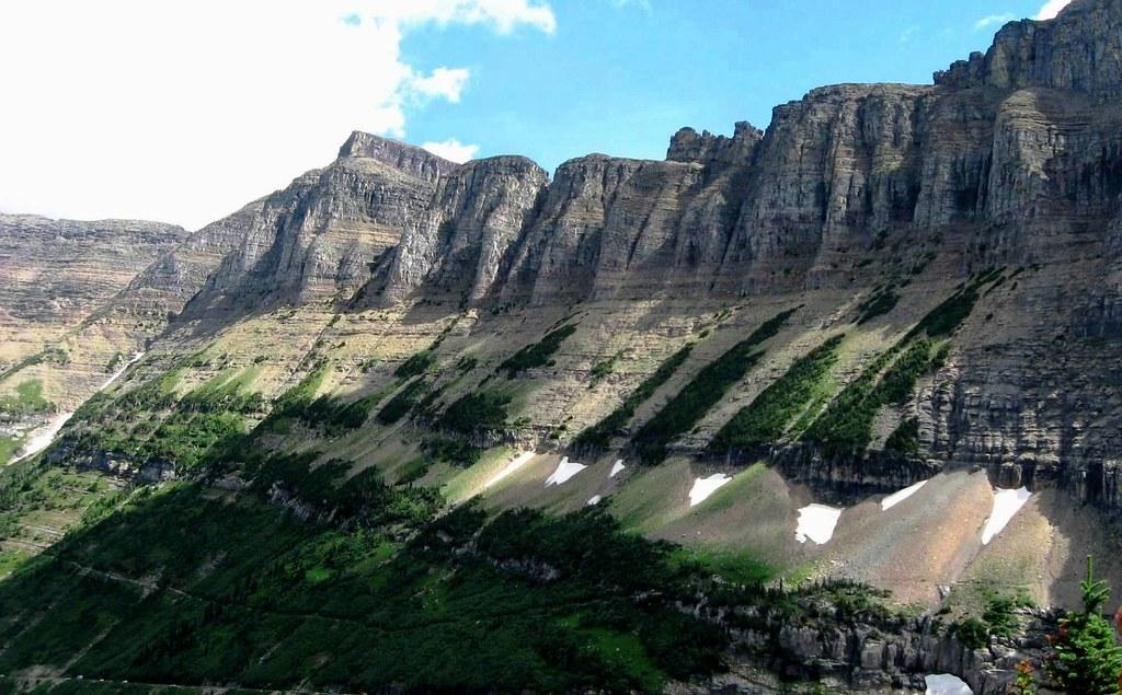 Rocky Mountian Garden Wall, Glacier NP, Montana