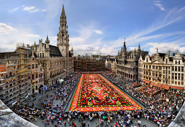 Carpet flower, Great Market, Brussels, Belgium