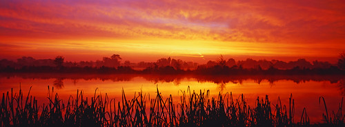england sunrise panoramic riverthames xpan oxfordshire thamesvalley shiplakecollege