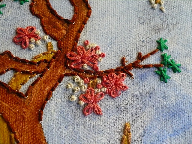Canvas painting embroidery in progress flickr photo