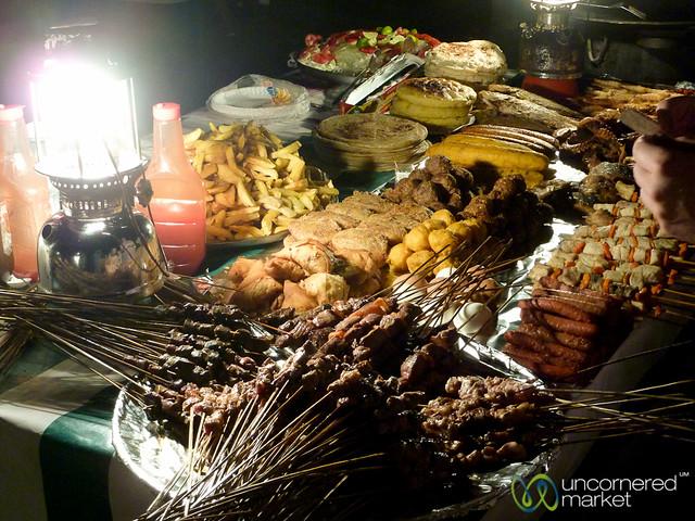 Dinner at Forodhani Night Market - Stone Town, Zanzibar