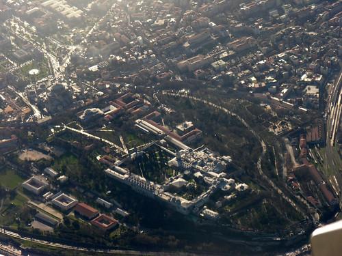 Az AyaSofya és a Topkapı Palota a levegőből