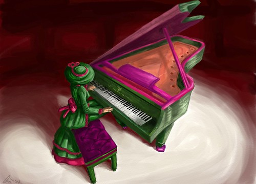 Torley on Piano - awesomelicious art by Wynter Bracken