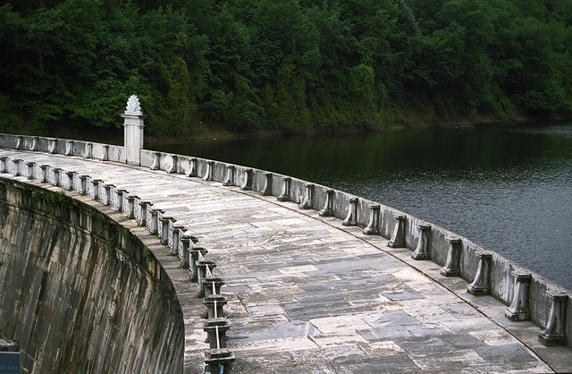 One of the dams in the Belgrat Ormanlı north of Istanbul.