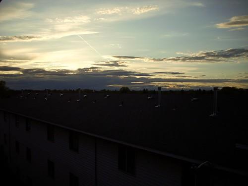 sunset sun idaho roofs rexburg