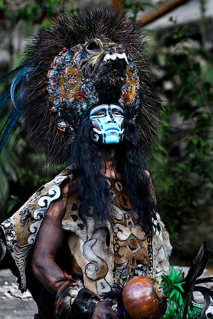 Mayan headdress | Flic... Aztec Warrior Face Paint