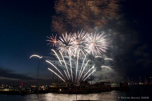 Skandia Cowes Week Fireworks