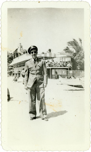 soldier at  beach
