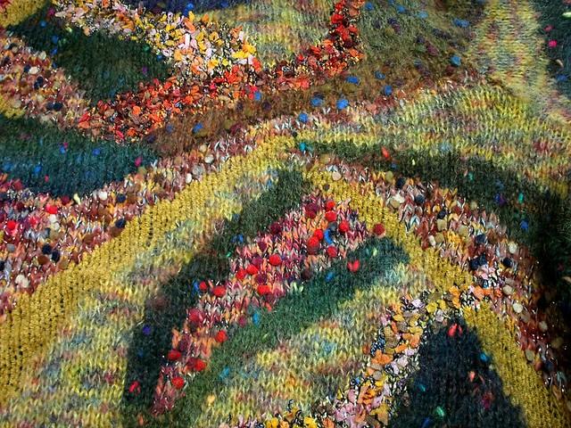 Kilt Hose Knitting Pattern : close-up of intarsia knit jacket Flickr - Photo Sharing!