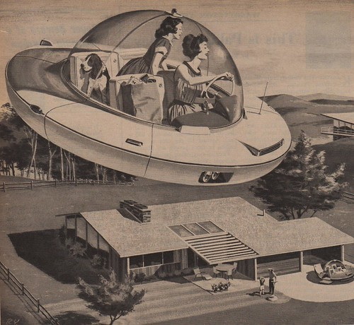 vintage ads advertising electricity thefuture 1959 hovercars