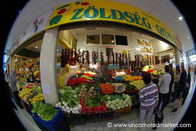 Lehel Market in Fisheye - Budapest, Hungary
