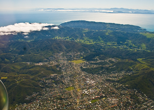 Karori and Cook Strait, Wellington, New Zealand, 14 Nov. 2008