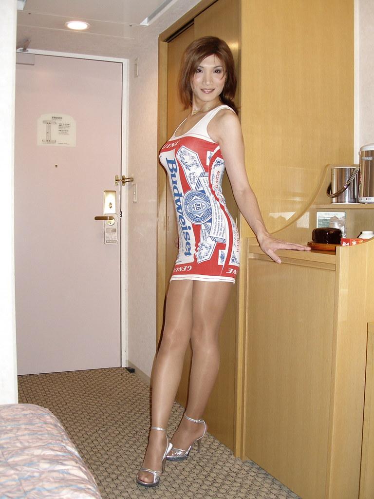 kyouko matsusita Budweiser minidress_1. by Kyoko Matsushita