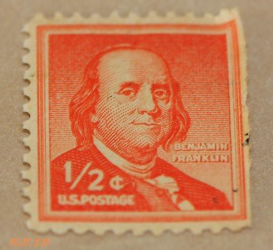 One Half Cent Benjamin Franklin Postage Stamp