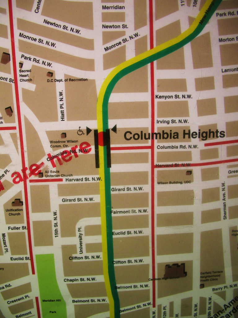 Outdated Columbia Heights Metro Map  Flickr  Photo Sharing