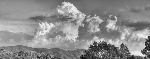 blackandwhite panorama hdr smokymountains tamron90mmf28 canoneos40d