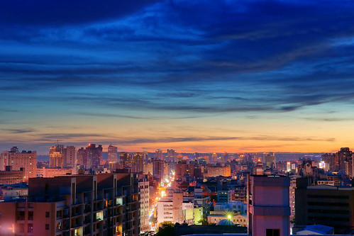 taiwan aftersunset taichungcity sonya850 sony2470za 夕燒雲彩