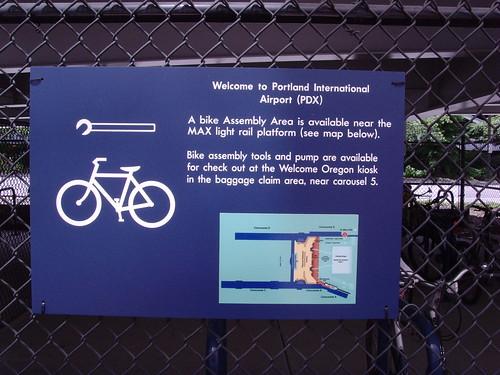 bike stand sign