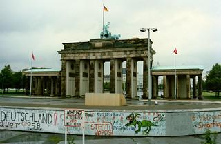 Berlin Wall at the Brandenburg Gate