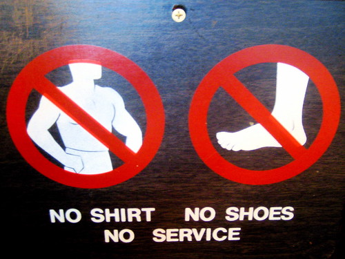 No Shirt No Shoes No Service printable sign