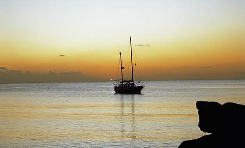 mauritius scanned travel mgjefferies geotagged geo:lat=20090274 geo:lon=57512569 sunset yacht
