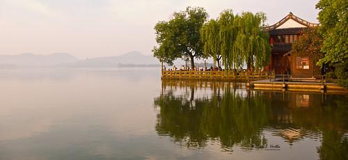 china travel vacation reflections day hangzhou zhejiang