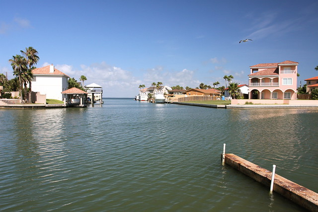 Canal South Padre Island, Texas