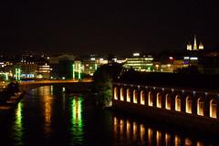 Genève - Le Rhône & Bâtiment des Forces Motrices