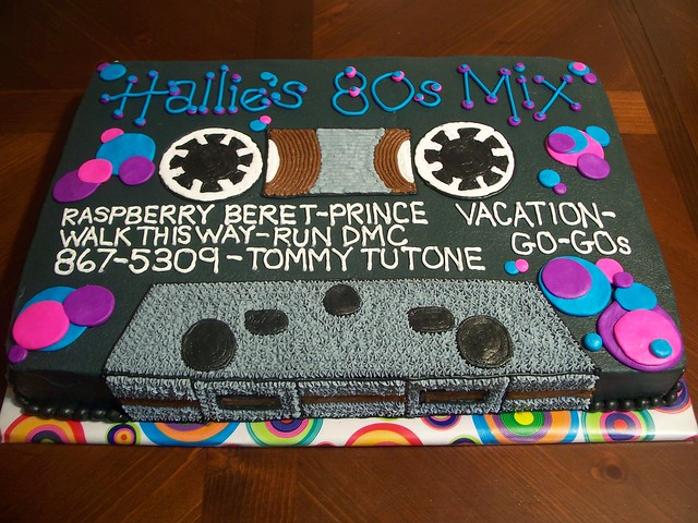 Audio Cassette Tape Cake