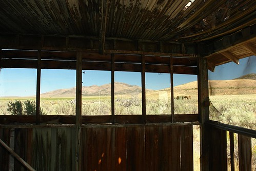 abandoned cabin view nevada limestone