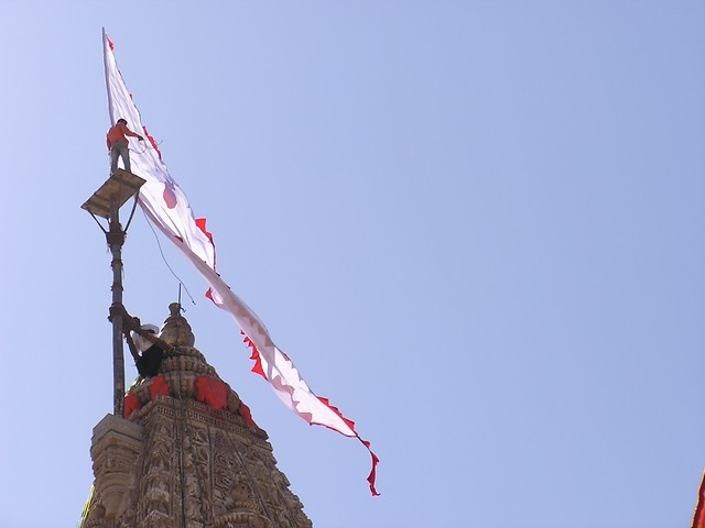 dwarka temple flag
