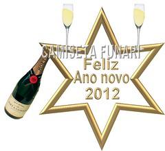 estrela dourada reveillon champanhe