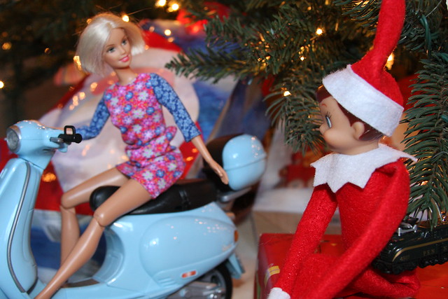 Making Friends with Barbie Elf on the Shelf. Click for more ideas! #elfontheshelf