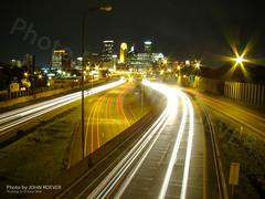 I-35W & Minneapolis at Night (13sec exposure), 16 Oct 2008