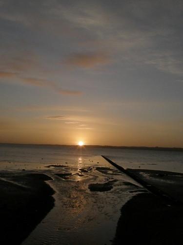sunrise dawn coast scenery