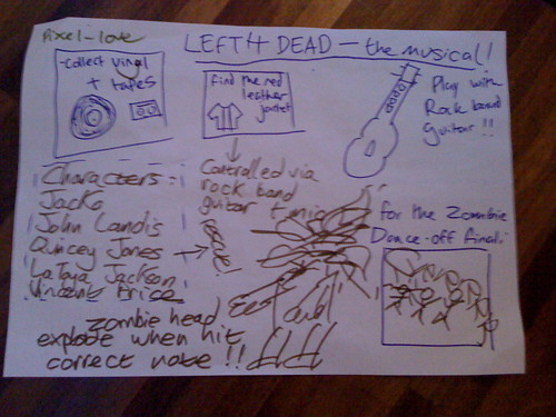 drawing round: left 4 dead the musical