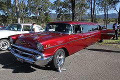 chevrolet bel air(0.0), convertible(0.0), automobile(1.0), automotive exterior(1.0), 1957 chevrolet(1.0), vehicle(1.0), antique car(1.0), sedan(1.0), land vehicle(1.0), luxury vehicle(1.0), motor vehicle(1.0),