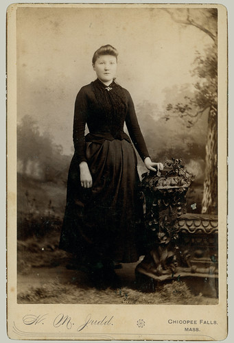 cabinet card - standing portrait