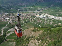 mountain, bird's-eye view, extreme sport, cable car, aerial photography,