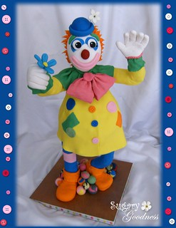 "3D Clown Cake (24"" tall)"