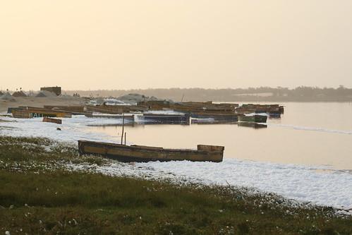 africa sunset lake art water canon boat tramonto sale rosa senegal dakar paesaggio