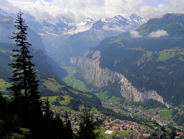 Overlooking the Lauterbrunnen valley
