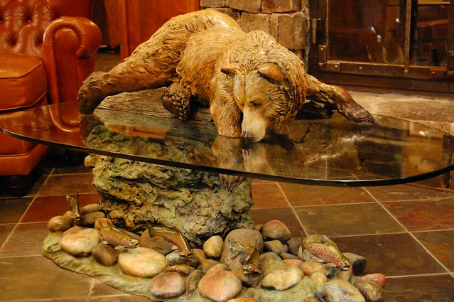 Fishing bear coffee table flickr photo sharing for Fish table app
