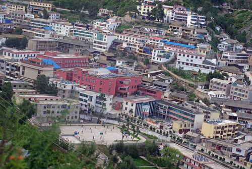 Deqin: School Field at Bottom Left