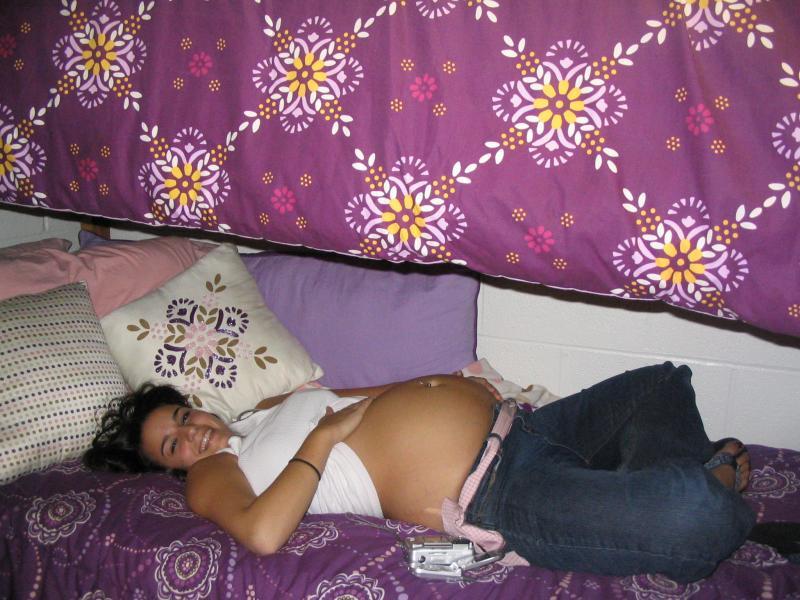 Belly Cute chubby brunette