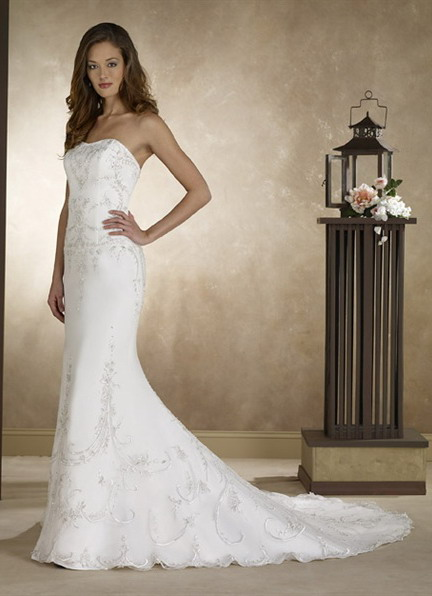 Wedding dress white bridal gown by forever yours for Forever yours wedding dress