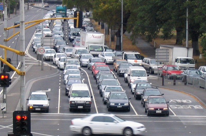 Punt Road traffic (March 2004)