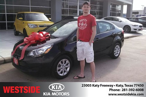 Thank you to Jon Ferguson  on your new 2014 #Kia #Rio from Gil Guzman and everyone at Westside Kia! #NewCar by Westside KIA