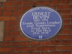 Photo of Ernest Bevin blue plaque